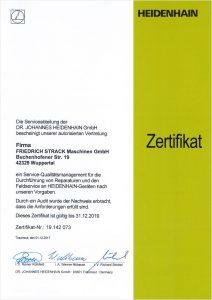 HEIDENHEIN Zertifikat